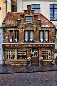 A Reason to Love Belgium (Bruges). Dumon is said to make the creamiest and smoothest of Belgian chocolates. Oh The Places You'll Go, Places To Travel, Places Ive Been, Places To Visit, Le Petit Champlain, The Good Place, Destinations, Beautiful Places, To Go