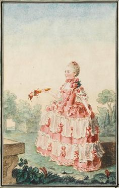 Mademoiselle de Frontville by Louis Carrogis, 1759, Musee Conde