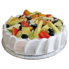 Fresh Rruit Gateau Cake Decorated With Fruit Best Recipes Online Shopping