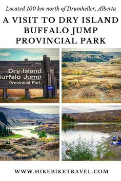 A visit to Dry Island Buffalo Jump Provincial Park in Alberta #Albertaparks #alberta #DryIslandBuffalojump #badlands #roadtrip