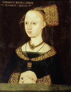 "The 'White Queen' ELIZABETH WOODVILLE (Wydeville/Widvile) consort of Edward IV. Her tomb at St George's Chapel, Windsor Castle is inscribed thus; ""Edward IV and his Queen Elizabeth Widvile"""
