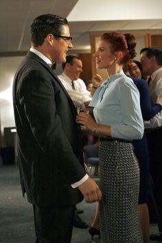 "Mad Men Season 1, Ep. 12 ""Nixon vs. Kennedy"" Rich Sommer, Julie McNiven"