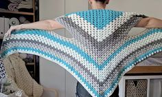 Caron Cake Triangle Shawl/Scarf - The Versatile Vest! | The Snugglery | Knitting and Crocheting Blog