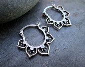 "Mini Flower Hoops -This artist's Etsy shop features hand-made ""tribal"" jewelry."