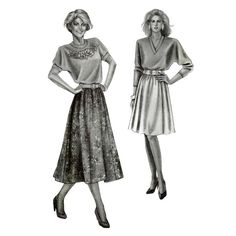 Womens 6-Gore Skirts Stretch & Sew 481 Sewing Pattern