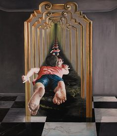 Artist Depicts Surreal Dreams and Nightmares in Paintings Art And Illustration, Illustrations, Surealism Art, Ancient Greek Sculpture, Art Alevel, Dream Painting, Painting Art, Surreal Artwork, Dreams And Nightmares