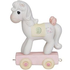 Precious Moments Birthday Gifts Being Nine Is Just Divine Birthday Train Age 9 Bisque Porcelain Figurine #142029