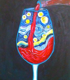 Starry Wine Glass
