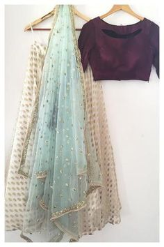Wine-Off-White Partywear Jacquard Silk Traditional Lehenga Choli, Festival,Ceremonial,Bollywood Lehe Indian Lehenga, Indian Salwar Kameez, Lehenga Choli, Sarees, Bridal Lehenga, Brocade Lehenga, Pakistani Dresses, Indian Dresses, Indian Outfits