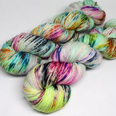 Hand Dyed  Speckled Sock Yarn - SW Sock 80/20 - Superwash Merino Nylon - 400 yards  - One of a Kind - Surprise Party - After Hours by SpunRightRound on Etsy https://www.etsy.com/uk/listing/498702210/hand-dyed-speckled-sock-yarn-sw-sock