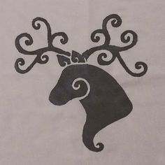 Curly Stag Cushion or T- Shirt. 1 of 60 Curly Creatures by Jules Crowther by ShopAtJulesCrowther on Etsy