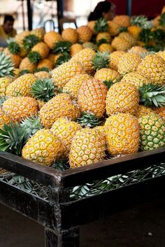 ✿Pineapple (Ananas comosus): You are perfect ✿鳳梨: 你十全十美 Fruit And Veg, Fruits And Vegetables, Fresh Fruit, Colorful Fruit, Beautiful Fruits, Delicious Fruit, Tasty, Tropical Fruits, Snacks