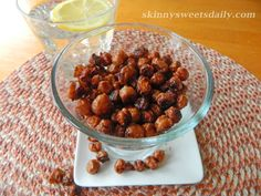 """Skinny Sweet Chickpea """"Nuts"""" A healthy treat that's so delish. Click pic for recipe and enjoy!"""