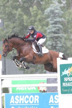 Ashlee Bond is victorious at Spruce Meadows aboard Agrostar - Noelle Floyd