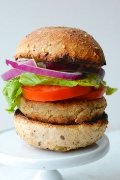 The Best Veggie Burger Ever | The Roaming Kitchen blog.  These seem like a ton of work but I bet they're delish!