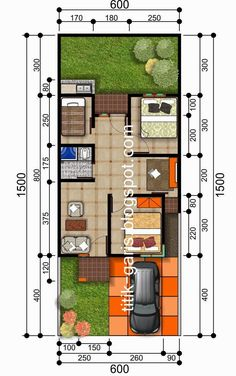 denah rumah tipe 50 m2 sehat Tiny House Plans, House Floor Plans, Modern House Plans, Design Rumah, Craftsman Floor Plans, Room Planning, Autocad, Minimalist Home, Narrow House
