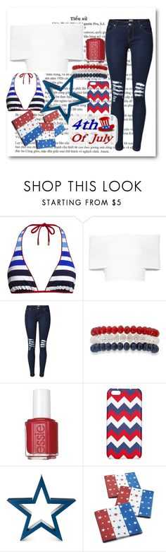"""""""Happy 4th!!!"""" by megraciegurl ❤ liked on Polyvore featuring Canvas by Lands' End, Rosetta Getty, Kim Rogers, Essie and Crate and Barrel"""