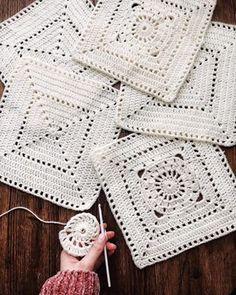 The York Sweater ⨯ Knitting Pattern - Da - Diy Crafts - moonfer Crochet Bedspread Pattern, Baby Afghan Crochet, Crochet Motifs, Crochet Cushions, Granny Square Crochet Pattern, Crochet Tablecloth, Afghan Crochet Patterns, Crochet Squares, Crochet Stitch