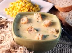 Sopa Creme de Milho - Veja mais em: http://www.cybercook.com.br/receita-de-sopa-creme-de-milho.html?codigo=3302