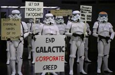 Star Wars: Stormtroopers on corporate greed. Inside Job, Storm Troopers, Star Wars Humor, Death Star, Love Stars, Thats The Way, Greed, Hilarious, Funny Geek