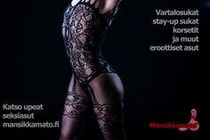 Vartalosukka ja muut seksiasut edullisesti laaja valikoima ja paljon kokoja! Catsuit, Wicked, Movie Posters, Movies, Overalls, Films, Film Poster, Cinema, Movie