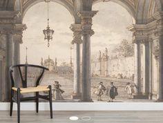 Canaletto baroque mural