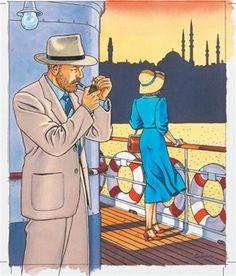 "Vittorio Giardino - ""On board"" Illustrations, Illustration Art, Bd Art, Ligne Claire, Comic Kunst, Learn Art, Tony Curtis, Comics Girls, Italian Artist"