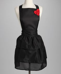 Take a look at this Design Imports Ruffles & Roses Apron by High Contrast: Entertaining Essentials on #zulily today!