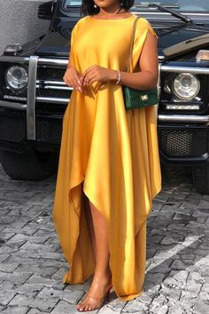Material: Polyester Silhouette: Asymmetrical Dress Length: Floor-Length Sleeve Length: Short S. African Maxi Dresses, Latest African Fashion Dresses, African Print Fashion, African Attire, Ankara Dress Styles, Ankara Gowns, Africa Fashion, African Wear, Dress Outfits