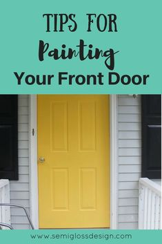 How to Paint an Exterior Door for Instant Curb Appeal Need an instant curb appeal boost? In just a few hours, you can paint your front door and completely change how your home looks! Painted Exterior Doors, Painted Front Doors, Wall Exterior, Exterior Design, Front Door Makeover, Front Door Decor, Front Porch, Front Door Paint Colors, Outdoor Doors