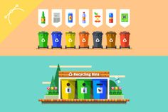 Garbage sorting by Lankogal on @creativemarket