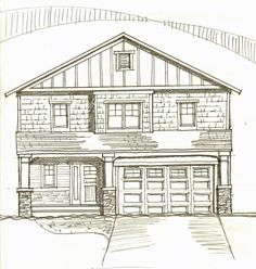 """Early version of a """"Green"""" Speculative Home to be done in association with TW Ellis Builders. Drawing Board, My Drawings, Floor Plans, Green, Home, Ad Home, Homes, House Floor Plans, Houses"""