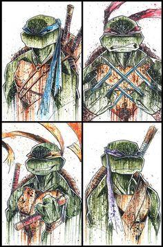 Teenage Mutant Ninja Turtles - Donatello by Rob Duenas Ninja Turtles Art, Teenage Mutant Ninja Turtles, Tmnt, Comic Books Art, Comic Art, Capas Minecraft, Gi Joe, Bd Comics, Marvel