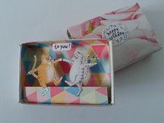 Mini doosje nr. 16   Happy birthday van EnnyArt op Etsy