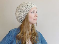 Hand Knit Slouchy Hat YOUR COLOR CHOICE Slouch by BoPeepsBonnets  need this!!!!!!!!!!!!!!!!!!!!!!!!!!!!