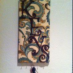 Pinterest inspired key holder! Such fun to make!