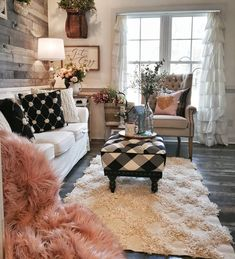 A Shabby Chic Living Room – Decorating On a Budget – Shabby Chic Talk Shabby Chic Veranda, Shabby Chic Porch, Shabby Chic Theme, Shabby Chic Living Room, Shabby Chic Kitchen, Cozy Living Rooms, Living Room Grey, Living Room Interior, Living Room Decor