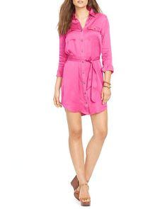 Lauren Ralph Lauren Military Button Front Shirt Dress