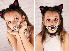 Cheshire Cat Face Halloween Makeup