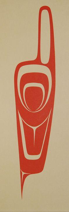 Robert Davidson ( Haida )  - Feather Design 1