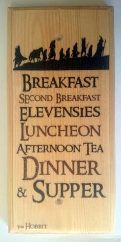 Diet Sign, Lord Of The Rings Gift Hobbit Hole Kitchen Breakfast 455 The Hobbit Diet Plaque / Sign / Gift - Lord Of The Rings Kitchen Breakfast 455 O Hobbit, Hobbit Hole, Hobbit Dwarves, Legolas, Gandalf, Lord Of Rings, The Lord Of The Rings, Hobbit Party, J. R. R. Tolkien