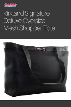 5d293964b185 The Kirkland Signature deluxe oversized mesh shopper tote allows you to  carry your groceries or other necessities in comfort and style.
