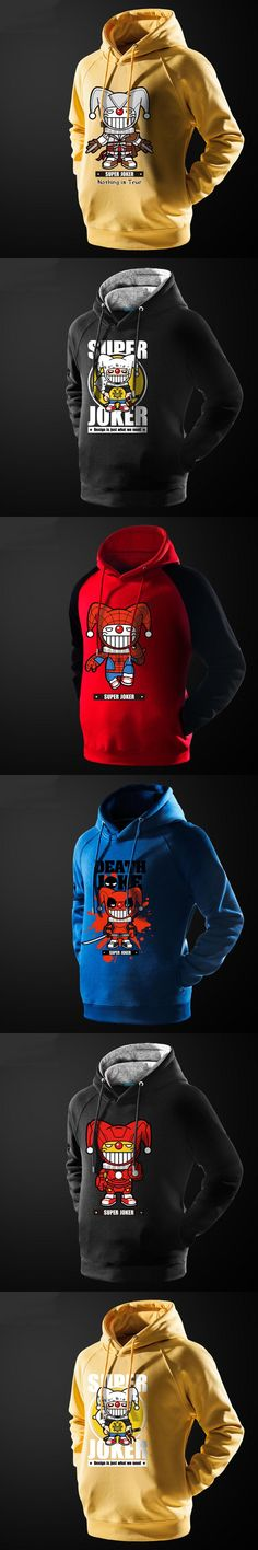 Super Joker Iron Man Spiderman Themed Hoodie For Young Boys Deadpool Printing Sweatshirts For Mens Autumn Winter Ticker Clothes