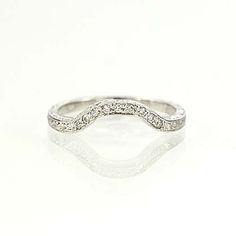 Vintage Style Thin Delicate 950 Platinum Curved Engraved Wedding Band Pinterest Weddings Engagement And