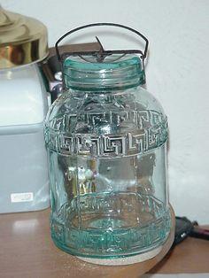 VERY SCARCE 1895 SAFETY VALVE FRUIT JAR GROUND TOP WITH ORIGINAL CLOSURE