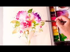 [LVL5] Wet on wet Watercolor Painting Technique - YouTube