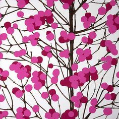 I am liking the idea of wallpaper for some reason... Maybe as an alternative to painting a feature wall. This Marimekko wallpaper reminds me of Japanese cherry blossums.
