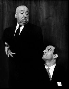 """François and Alfred in debate…    """"Hitchcock loves to be misunderstood, because he has based his whole life around misunderstandings."""" - François Truffaut"""