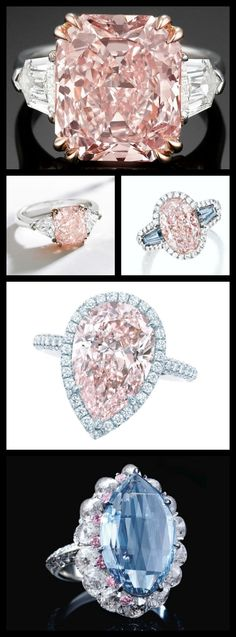 Time for a Ring roundup featuring one of my all-time favorite things: Pink Diamonds. Some big, some small, all worth a look. You know you want to see.
