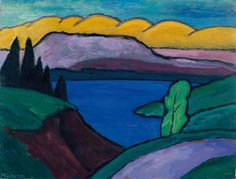 Gabriele Münter (1877-1962) The Blue See, 1954